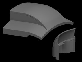 Sn3 D&RGW coach roof end in Frosted Ultra Detail