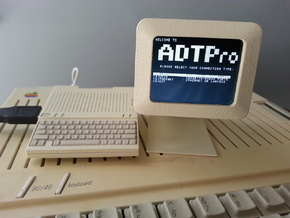 Apple Monitor IIc - 1:4 Scale in White Strong & Flexible