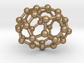0033 Fullerene c36-05 d2 in Matte Gold Steel
