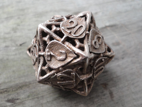 Botanical Die20 (Aspen) in Stainless Steel