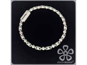 Fine barrel chain long necklace. in Black Strong & Flexible