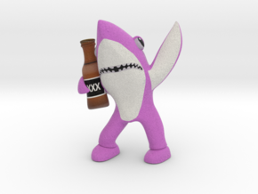 Pink Drunk Shark in Full Color Sandstone