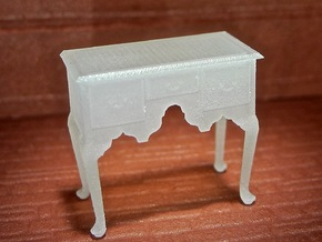 1:48 Queen Anne Lowboy in Frosted Ultra Detail