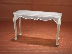 1:48 Queen Anne Console Table in Frosted Ultra Detail
