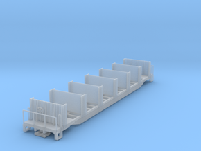 Ties Flat Car without load N scale (1/160) in Frosted Ultra Detail