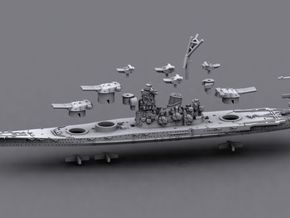 1/1800 IJN BB Yamato[1941] in White Strong & Flexible