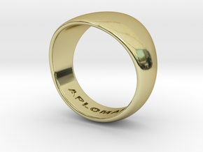 Barrel Ring Size 10 in 18k Gold Plated