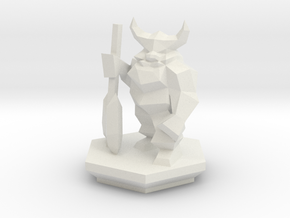 Low Poly Dwarf (Table-Top Alliance Base Unit) in White Strong & Flexible