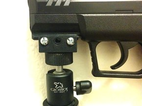 Picatinny Monopod and Tripod Mount Adapter in Black Strong & Flexible