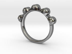 Jester Ring - Sz. 7 in Premium Silver