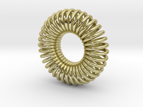 Torus Pendant 30mm in 18K Gold Plated