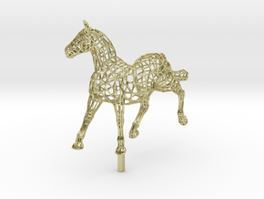 ELEGANCE  - Gold Plated Horse in 18K Gold Plated