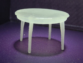 1:48 Moderne Dining Table in Frosted Ultra Detail