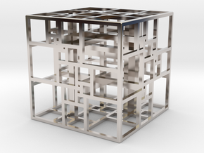 Triple SPSS Cube 28-408 (small) in Rhodium Plated