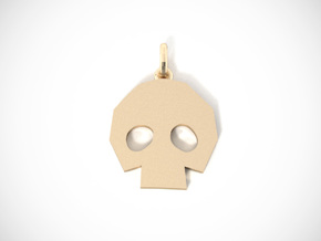 Gold Skulltula token pendant in 18K Gold Plated