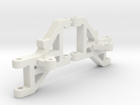 RC10DS Front arms AND Mounts in White Strong & Flexible