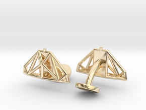 Cobra mkIII Wireframe Cufflinks in 14k Gold Plated