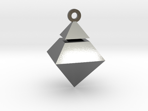 Crematory Pendant in Polished Silver