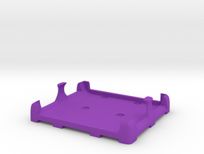 Battery mount Flat (for Fromeco 5200) in Purple Strong & Flexible Polished