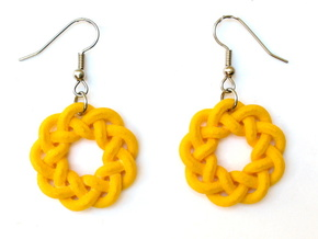 Woven Starburst Earrings - Large in Yellow Strong & Flexible Polished
