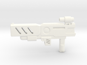Transformers CHUG Machine Pistol in White Strong & Flexible Polished