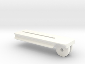 120mm Plate  for Tilting Palm Rest in White Strong & Flexible Polished