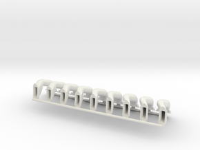 Le Rhone - 110hp - Intake Assembly - 1:6 Scale in White Strong & Flexible