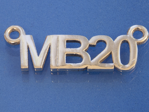 MB20 pendant in Polished Silver