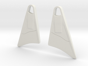 Bodyboard Fins Necklace in White Strong & Flexible