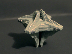 Alien mothership concept in White Strong & Flexible Polished