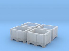 TT Scale Palletbox (4pc) in Frosted Ultra Detail