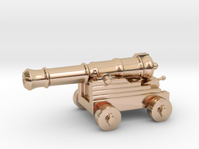 Cannon Paperweight in 14k Rose Gold Plated