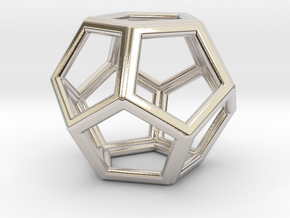 DODECAHEDRON (Platonic) in Rhodium Plated