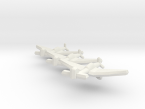 Junkers Ju 87D-5 1:900 (Triplet) in White Strong & Flexible