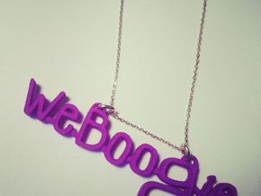 Weboogie Pendant in Pink Strong & Flexible Polished