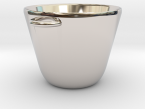 Mini Cooking Pot for Making Miniature Meals in Rhodium Plated