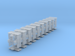 """1/50th Equipment track link set 1. 40 links 24"""" wi in Frosted Ultra Detail"""