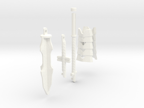 TF4: AOE Warrior Of Liberty kit (tail v2) in White Strong & Flexible Polished