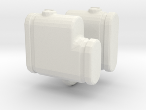 1/64 250 gallon saddle tanks, set of 2 in White Strong & Flexible