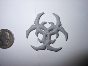 Biohazard Charm in Polished Metallic Plastic