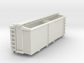 HOn30 22 foot Boxcar in White Strong & Flexible