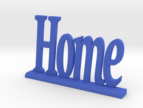 "Letters 'Home' - 7.5cm / 3.00"" in Blue Strong & Flexible Polished"