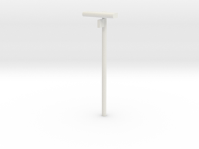 DSB Stations lampe med spornummer VIA 1/87 in White Strong & Flexible