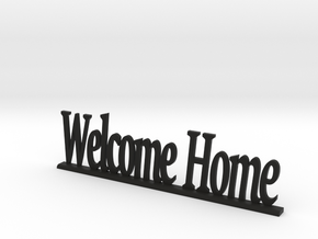 "Letters 'Welcome Home' - 7.5cm / 3"" in Black Strong & Flexible"