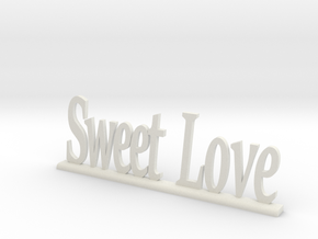 """Letters 'Sweet Love' - 7.5cm - 3"""" in White Strong & Flexible"""