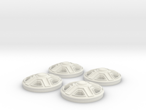 Rims(1:24 Scale) in White Strong & Flexible