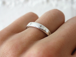 Positivity Ring in Polished Silver
