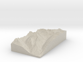 Model of Piz Sagliains in Sandstone