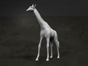 Giraffe 1:12 Standing Male in White Strong & Flexible