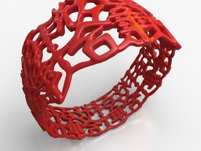 PAN Bracelet D64 RE115s3A10m25M45FR011-plastic in Red Strong & Flexible Polished